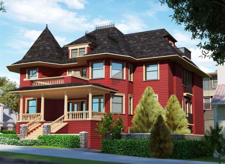 加拿大不列颠哥伦比亚省温哥华3卧3卫的房产华润昆玉九里别墅图片