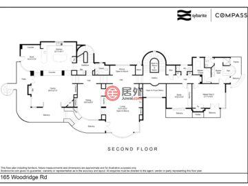 美国加州希尔斯伯勒的房产,165 Woodridge Road,编号42708959