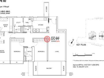 新加坡SingaporeSingapore的新建房产,铂瑞雅居(Boulevard 88),86 & 88 Orchard Boulevard,编号56968396