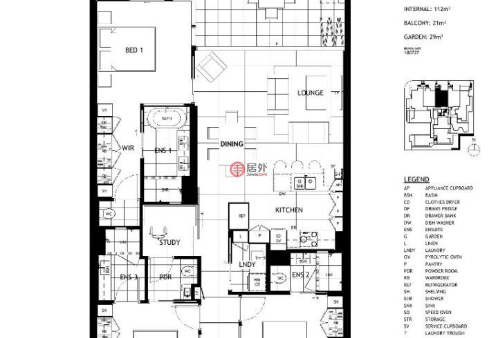 澳大利亚昆士兰布里斯班的新建房产,18-26 Jones Street & 8 Colton Street, Highgate Hill,编号45927381