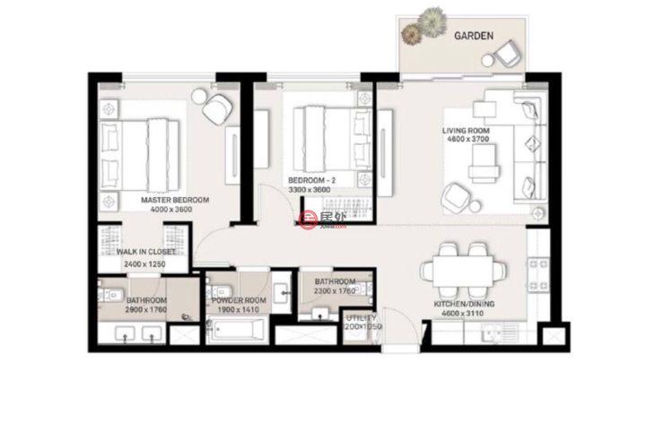阿联酋迪拜迪拜的房产,迪拜山庄 Dubai Hills,编号55365672