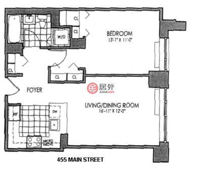 美国纽约州纽约的房产,455 Main Street,编号48839075
