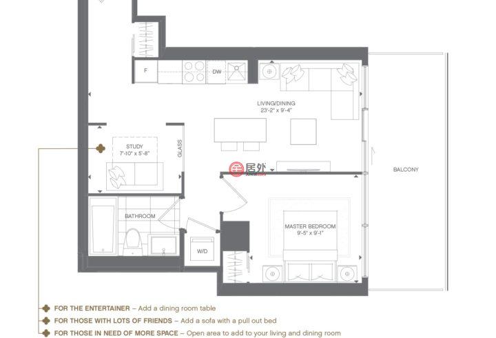 加拿大安大略省多伦多的房产,595 Yonge St,编号57768475