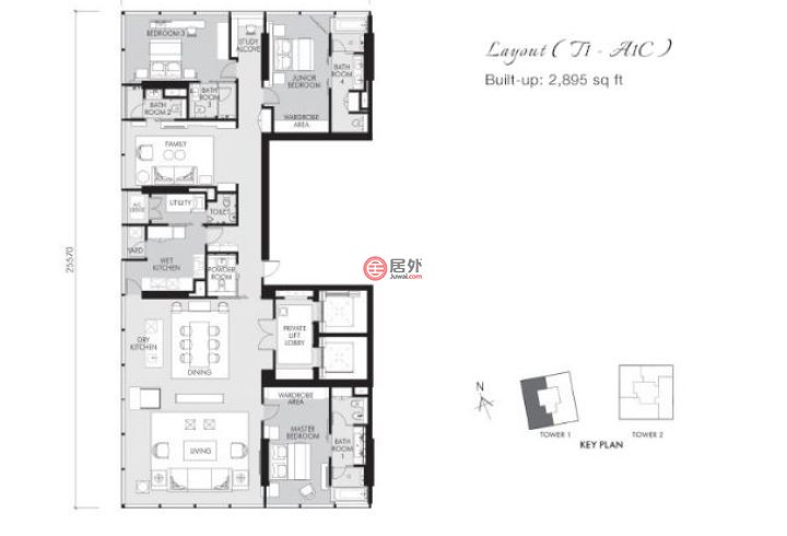 马来西亚Wilayah Persekutuan Kuala LumpurKuala Lumpur的房产,KLCC,编号45241068