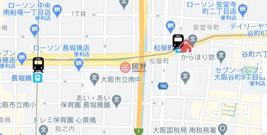 日本大阪府大阪市的公寓,谷町6丁目18-22,编号56851146