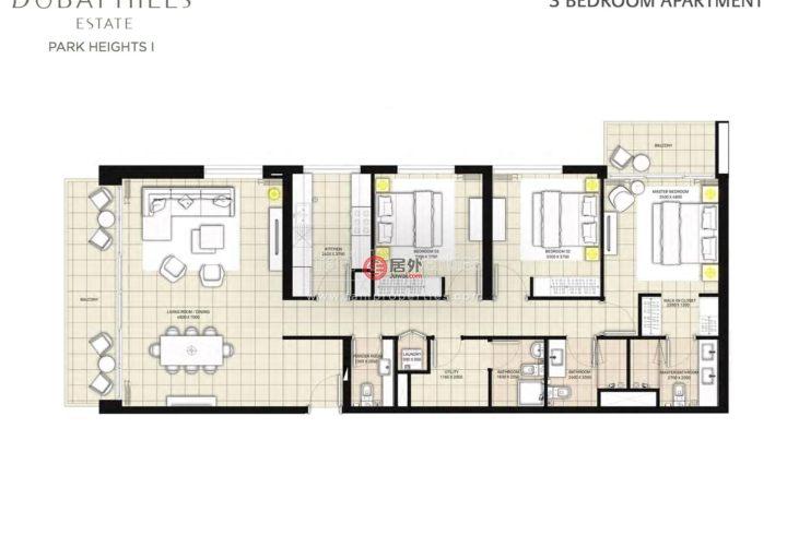 阿联酋迪拜迪拜的房产,Park Heights ,编号54992709