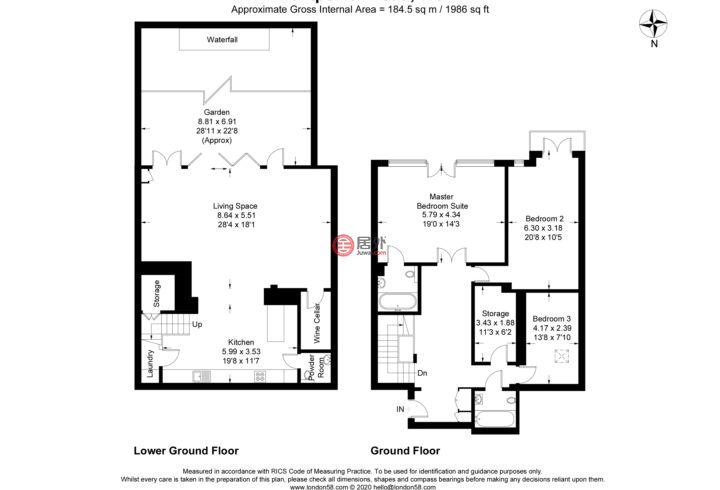 英国英格兰伦敦的房产,Montpelier Avenue,编号54895222