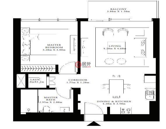 阿联酋迪拜迪拜的房产,编号47586488
