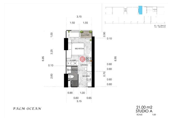 泰国春武里府Pattaya City的房产,泰国芭提雅Palm Ocean 帕山新富人区270°奢华半山公寓,绝美海景!,编号54176183