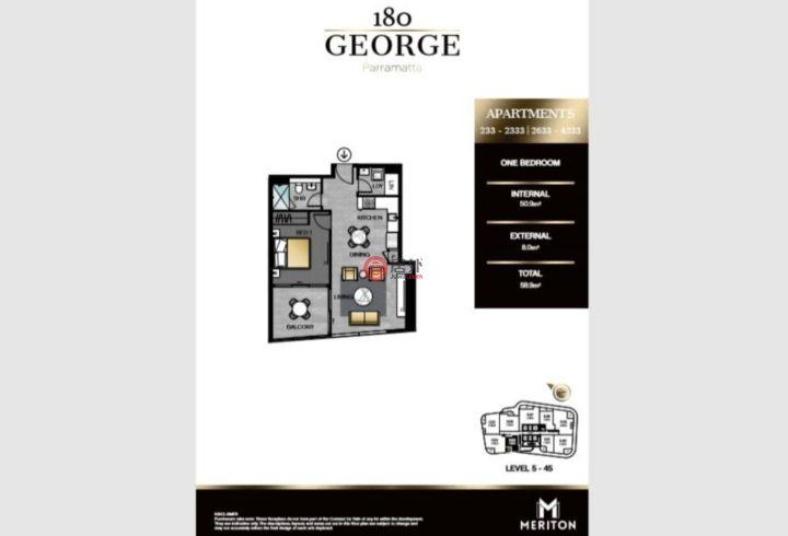 澳大利亚新南威尔士州Parramatta的房产,180 George Street,编号49981152