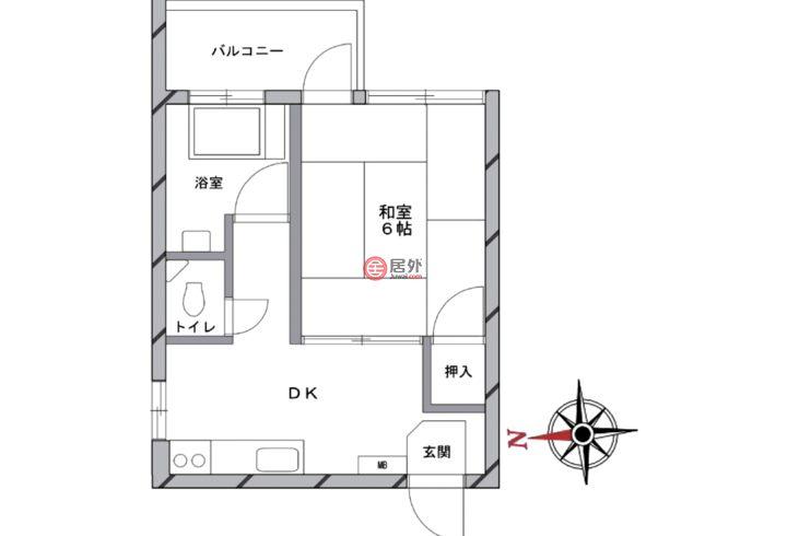 日本JapanTokyo的房产,2-44-14 Higashiogu,编号54584512