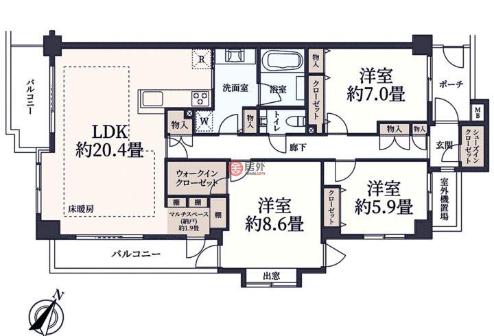 日本JapanTokyo的房产,编号57801570