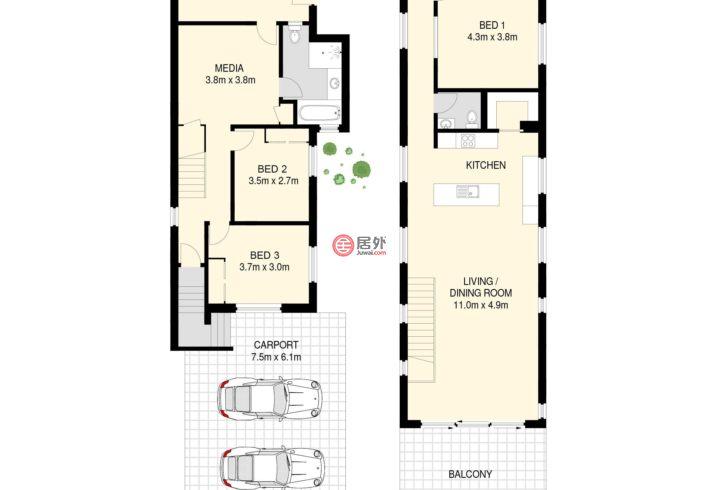 澳大利亚昆士兰Bardon的房产,72 Lorward Avenue,编号50437452